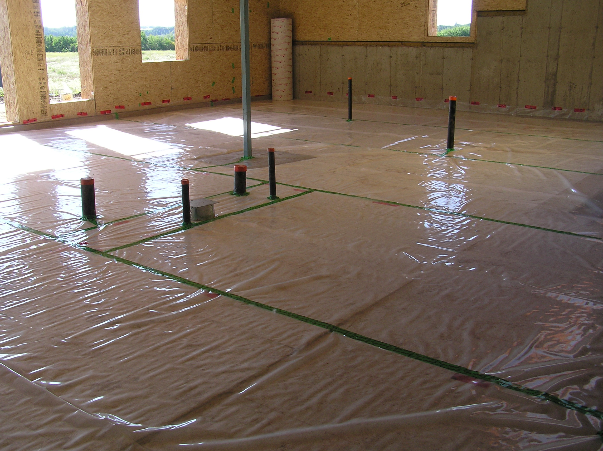 basement floor slab cottonwood passive house