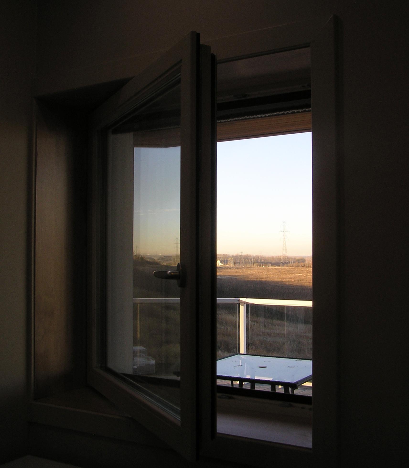 Open Window At Dusk
